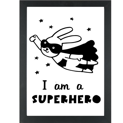I am a superhero print