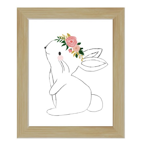 bunny floral